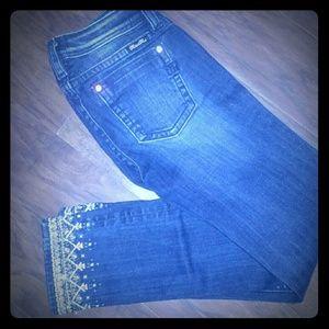 Miss Me girls skinny jeans ankle JK8757Ak2Size 16